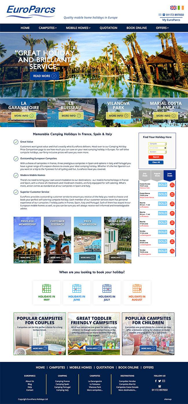 holiday booking website project bristol