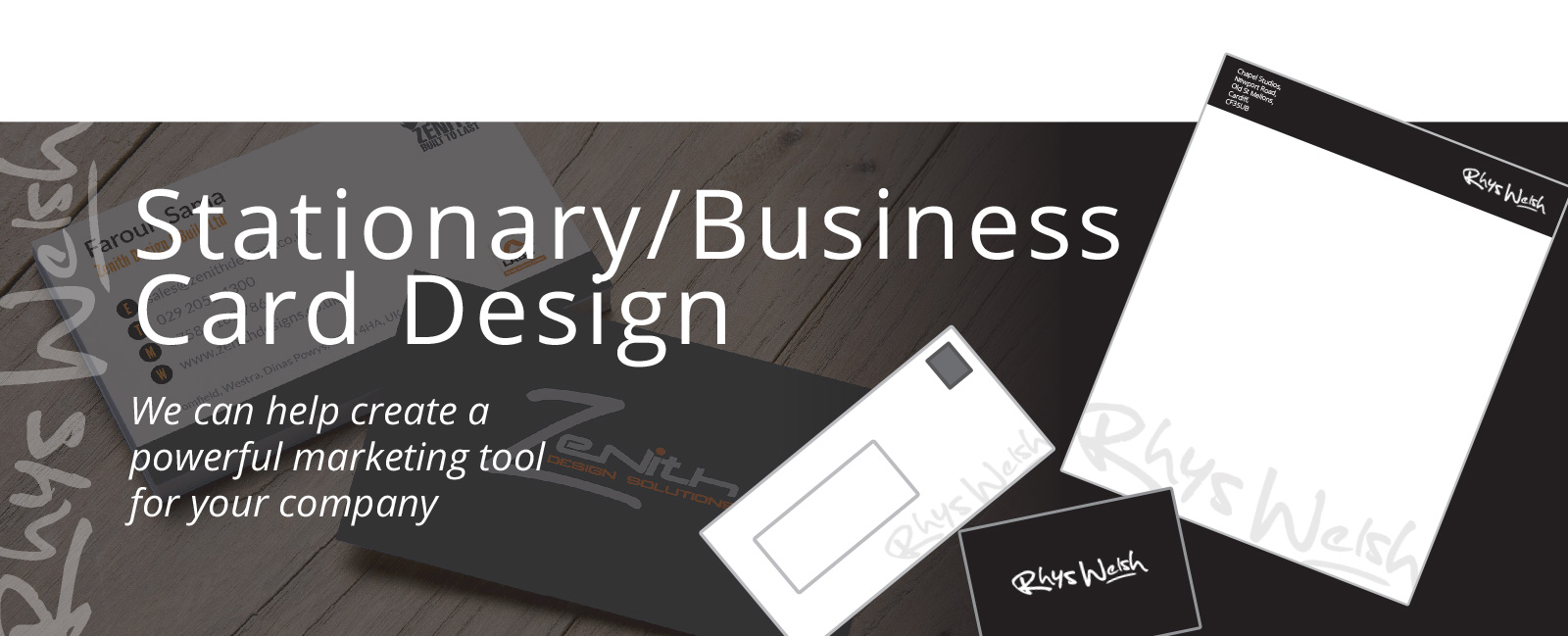 Stationary Business Card Design cardiff slide
