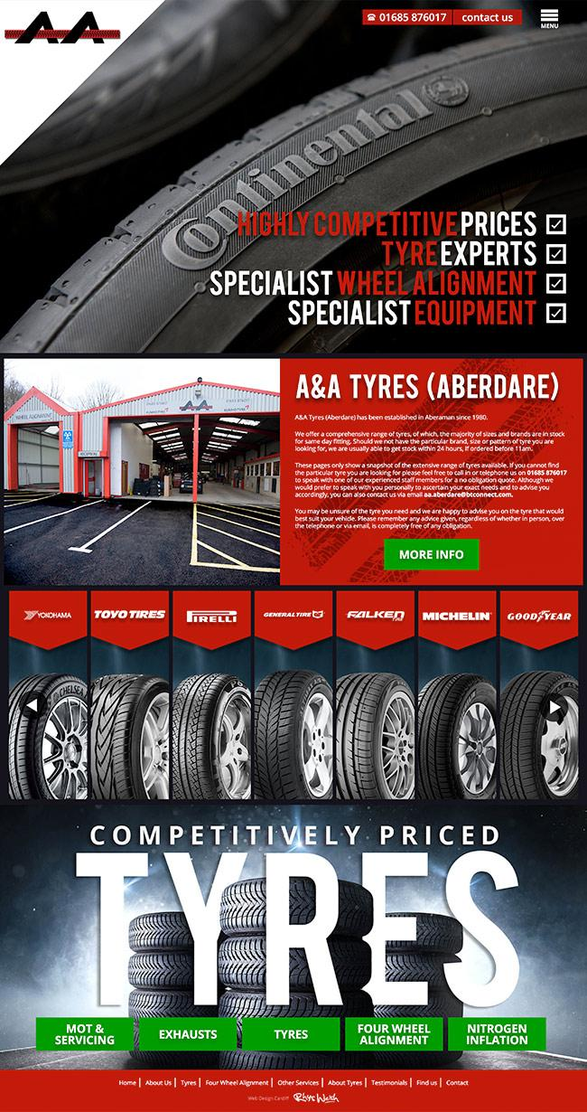 tyre website design