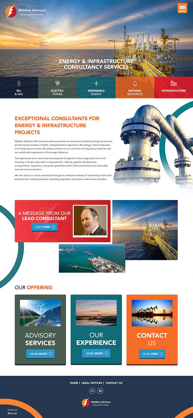 web energy consultants website design